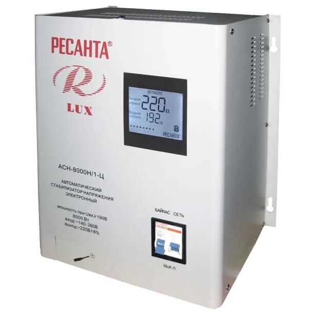 Стабилизатор напряжения Ресанта LUX АСН-8000Н/1-Ц